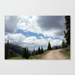 Black Bear Pass Road - Panorama from a Crest Canvas Print