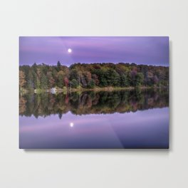 Moon Rise Over Parker Dam State Park Metal Print