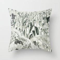 Jungle Scene Throw Pillow