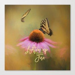 Butterflies At Play Canvas Print