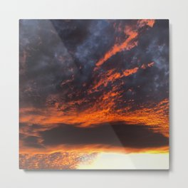 Fire in the Sky 1.0 Metal Print