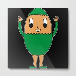 Egg Easter-Egg One-Colored Metal Print