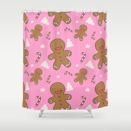 Gingerbread with Christmas Shower Curtain