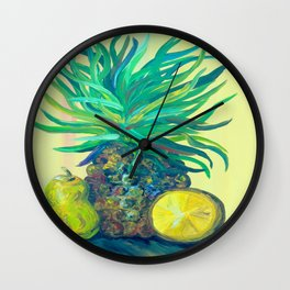 Pear and Pineapple Wall Clock