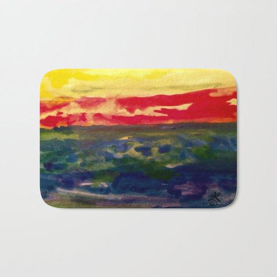 My Starry Sunset Bath Mat
