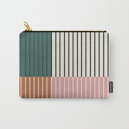 Color Block Line Abstract V Carry-All Pouch