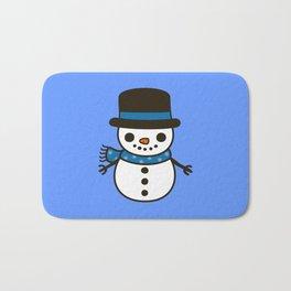 Cute snowman Bath Mat