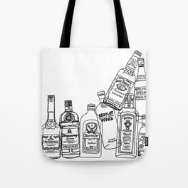 Alcohol Bottles (White) Tote Bag