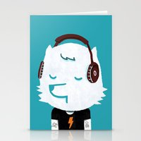 acdc Stationery Cards featuring Metal Rock Dog by Picomodi