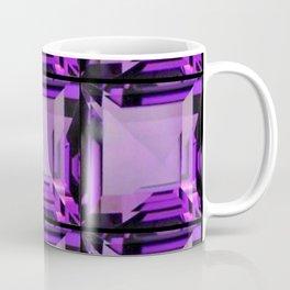 EMERALD CUT PURPLE FEBRUARY AMETHYST GEMS Coffee Mug