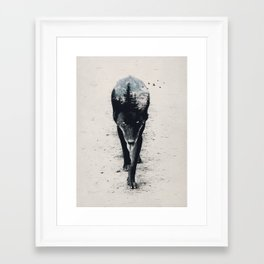 Up in the Woods Framed Art Print
