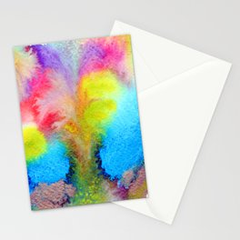 Surreal Volcano That Erupts Colored Lava Stationery Cards