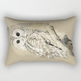 Sepia Owl Rectangular Pillow