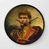 replaceface Wall Clocks featuring Patrick Swayze - replaceface by replaceface