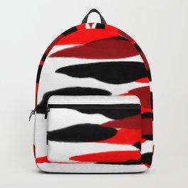 red black purple clouds pattern Backpack