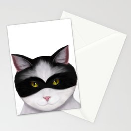 They call me the Masked Cat Stationery Cards