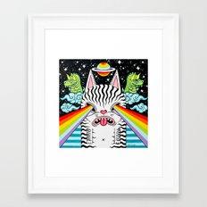 Cosmic Cat Framed Art Print