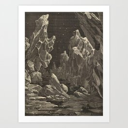 Camille Flammarion - Astronomie populaire  Black And White Magical Space Crystal Fantasy Landscape Art Print