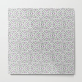 Rosettes in Purple and Green Metal Print