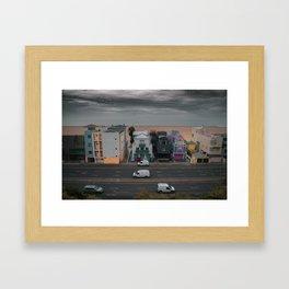 Pacific Coast Hwy veiw from santa monica Framed Art Print