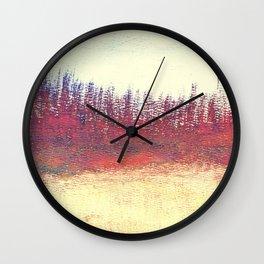 Maritime Lakeshore In Autumn Wall Clock