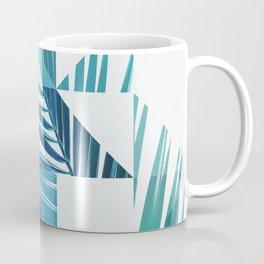 Geometric Palm Leave - blue & green Coffee Mug