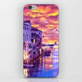 Colorful Abstract Painting of Venice iPhone Skin