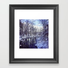 Blue Ice II Framed Art Print