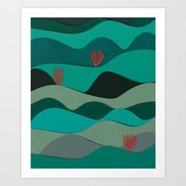 Layered Reef Art Print