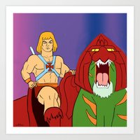 he man Art Prints featuring He-Man by Dano77