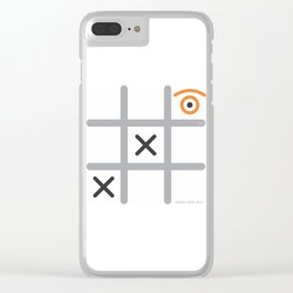 tic eye toe Clear iPhone Case