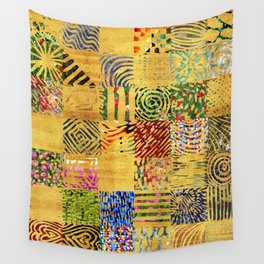 tribal gold Wall Tapestry