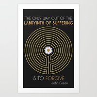 looking for alaska Art Prints featuring Looking For Alaska by Dani Aviles