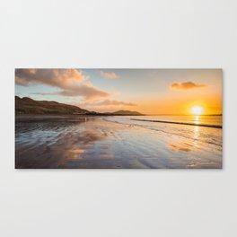 Sunsets over Buncrana Beach Canvas Print
