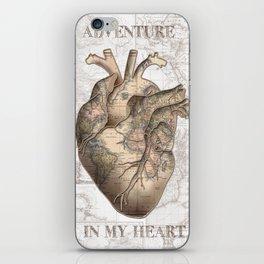 adventure heart-world map 1 iPhone Skin