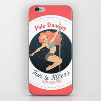 fitness iPhone & iPod Skins featuring Pole Friends - Fun & Fitness by Pole Friends Shop