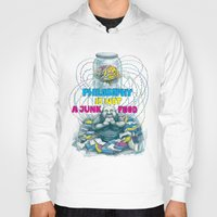 philosophy Hoodies featuring Philosophy is not a junk food by Ruta13