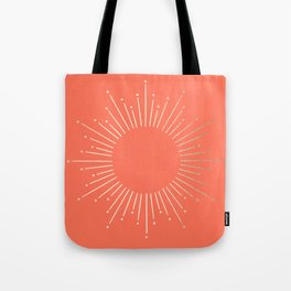 Simply Sunburst in Deep Coral Tote Bag