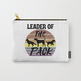 Leader of The Pack: Dog Retro Vintage Sunset Carry-All Pouch