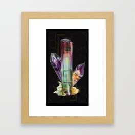 Fantasy Mineral Matrix Framed Art Print