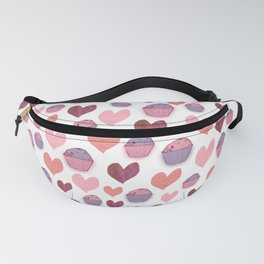 Hearts & Cakes Pattern Fanny Pack
