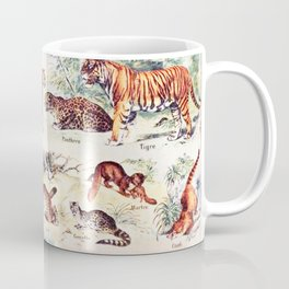 Vintage Antique Wildlife Encyclopedia Print Coffee Mug