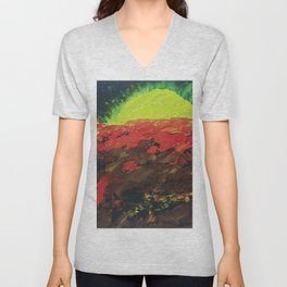 The Earth's sun Unisex V-Neck