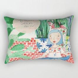 Mexican Princess thinks of Oscar Wilde Rectangular Pillow