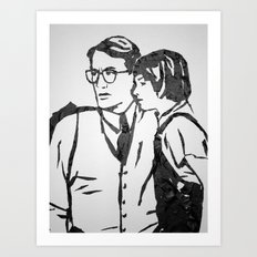 Scout and Atticus Art Print