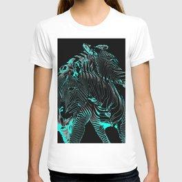 Turquoise Inverse Zebras T-shirt