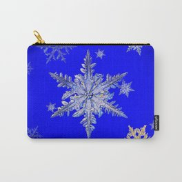 """""""MORE SNOW"""" BLUE WINTER ART DESIGN Carry-All Pouch"""