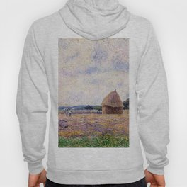 Haystack Eragny 1885 By Camille Pissarro | Reproduction | Impressionism Painter Hoody