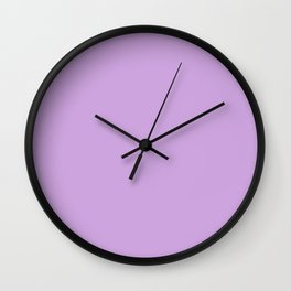 From The Crayon Box – Wisteria Purple - Pastel Purple Solid Color Wall Clock