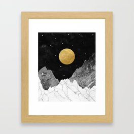 Moon and Stars Framed Art Print